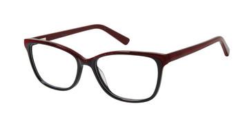 Black/Glitter Nicole Miller Hemlock Eyeglasses.