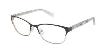 Black/Crystal Nicole Miller Heyward Eyeglasses.