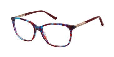 Burgundy Tort Nicole Miller Hope Eyeglasses.