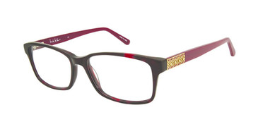 Burgundy Tort Nicole Miller Jett YourFit Jeweled Eyeglasses.