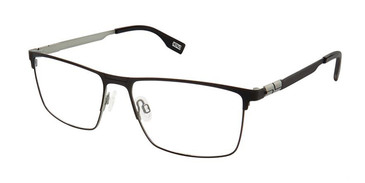 Black Grey Evatik 9193 Eyeglasses.