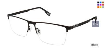 (M100) Black Evatik 9194 Eyeglasses.