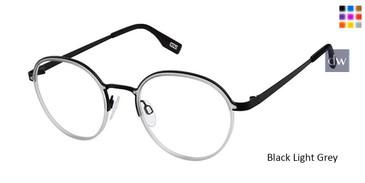 (M403) Black Light Grey Evatik 9195 Eyeglasses - Teenager.