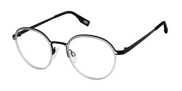 Black Light Grey Evatik 9195 Eyeglasses - Teenager.