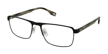 Black Green Evatik 9196 Eyeglasses.