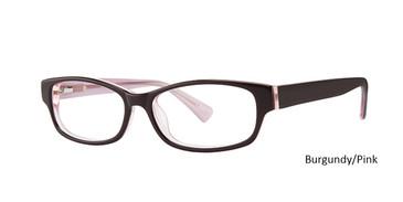 Burgundy/Pink Vivid Eyeglasses Vivid 807.