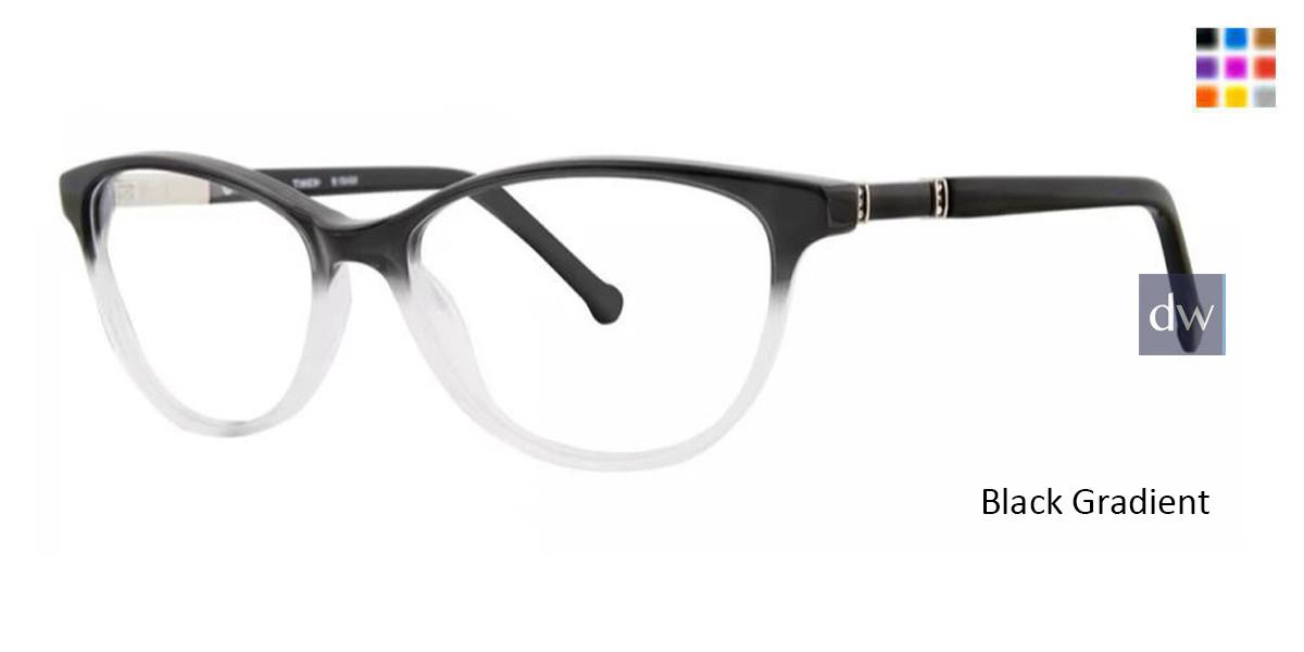 38 PM Black Eyeglasses Timex 4