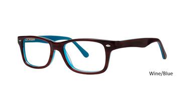Wine/Blue Vivid 829 Eyeglasses