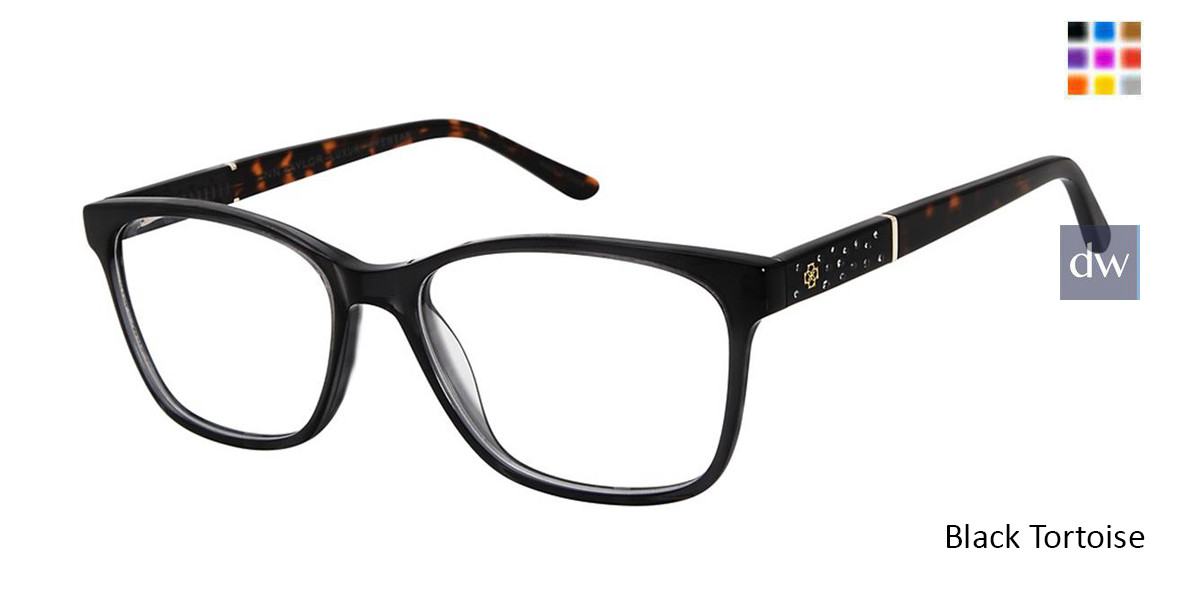 Black Tortoise Ann Taylor AT008 Luxury Eyeglasses.