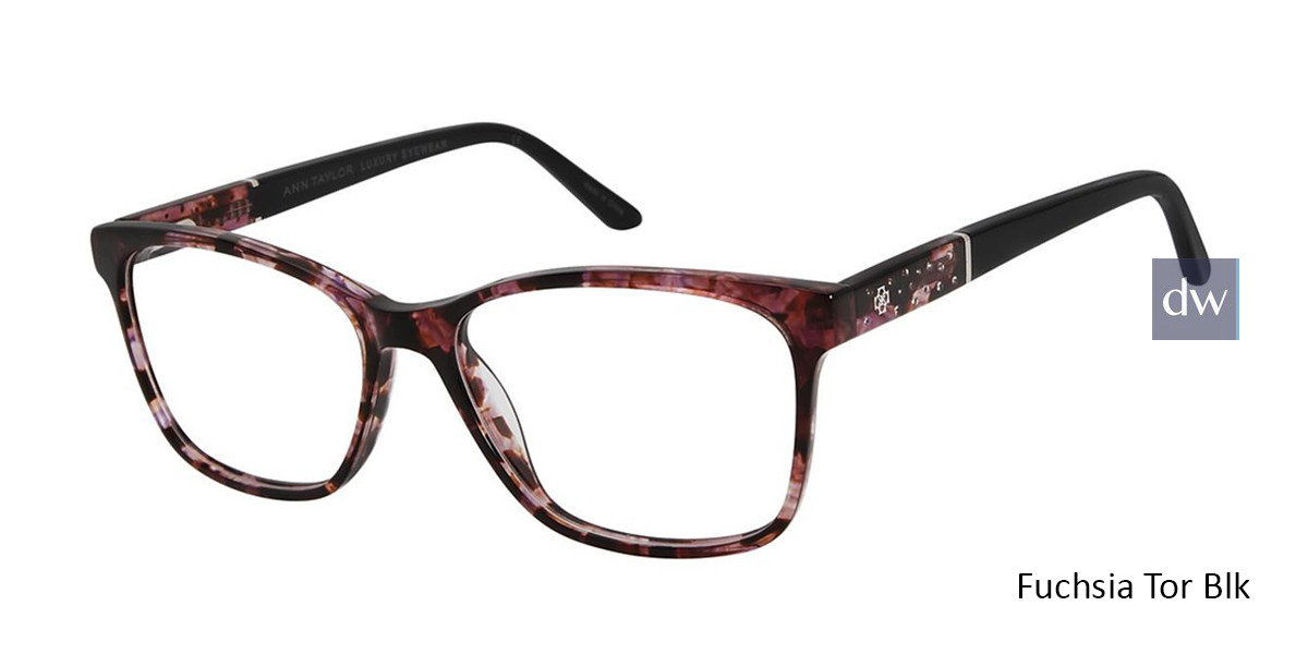 Fuchsia Tor Blk Ann Taylor AT008 Luxury Eyeglasses.