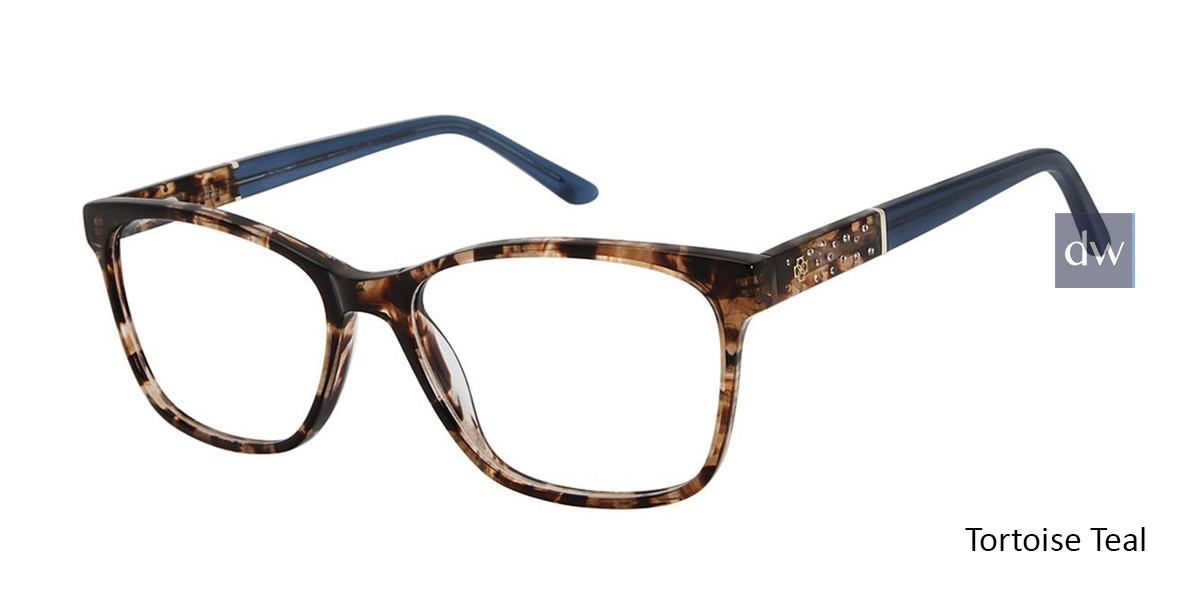 Tortoise Teal Ann Taylor AT008 Luxury Eyeglasses.