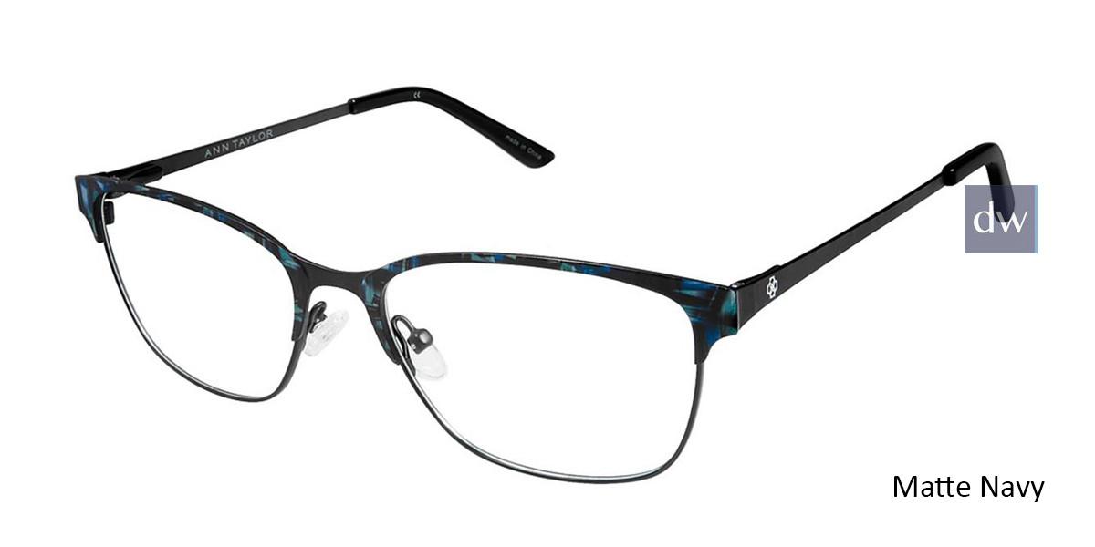 Matte Navy Ann Taylor AT102 Eyeglasses.
