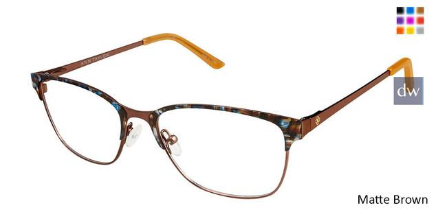 Matte Brown Ann Taylor AT102 Eyeglasses.