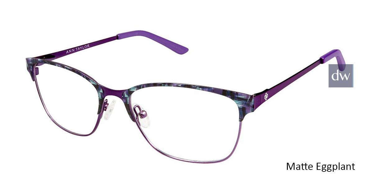 Matte Eggplant Ann Taylor AT102 Eyeglasses.
