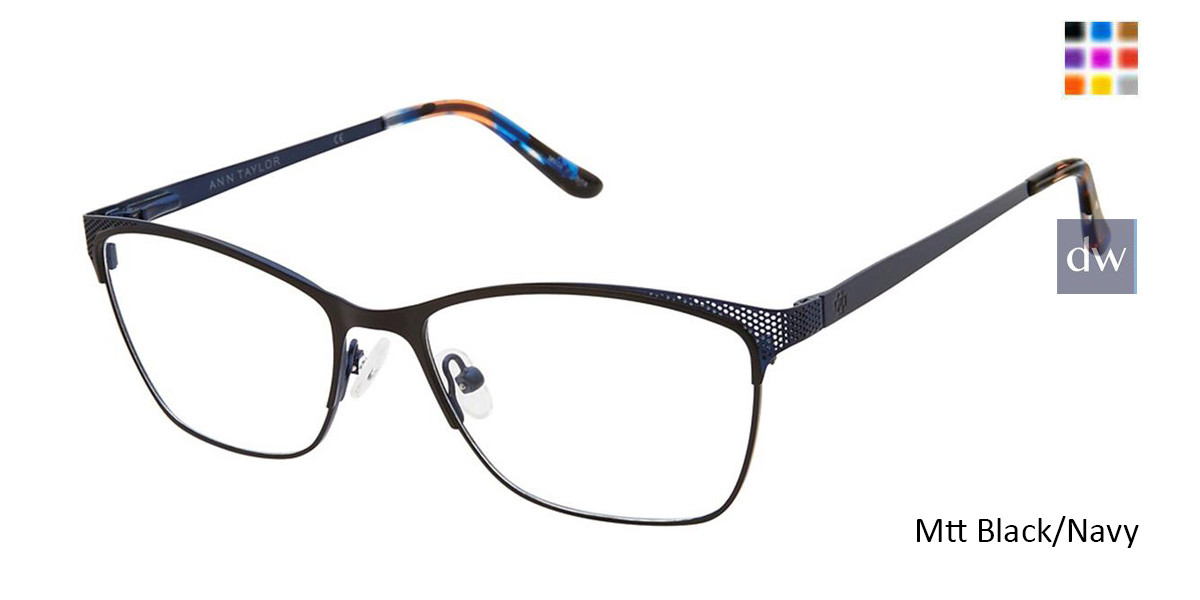 Mt Black/Navy Ann Taylor AT103 Eyeglasses.