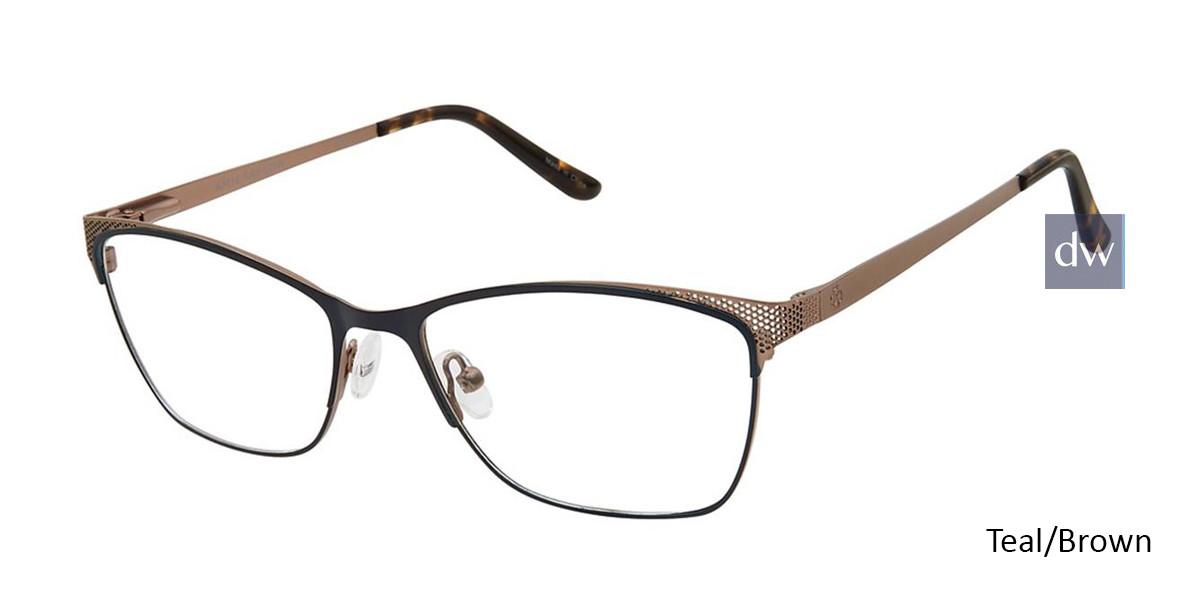 Mt Teal/Brown Ann Taylor AT103 Eyeglasses.