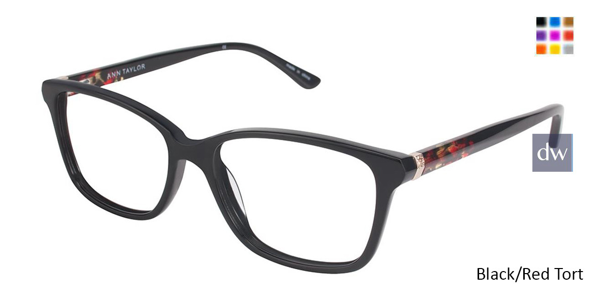 Black/Red Tort Ann Taylor AT322 Eyeglasses.