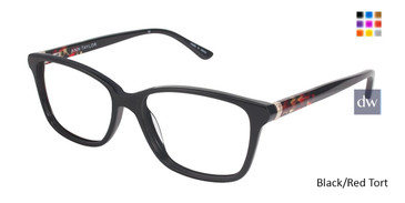 Black/Red Tort Ann Taylor AT322 Eyeglasses.
