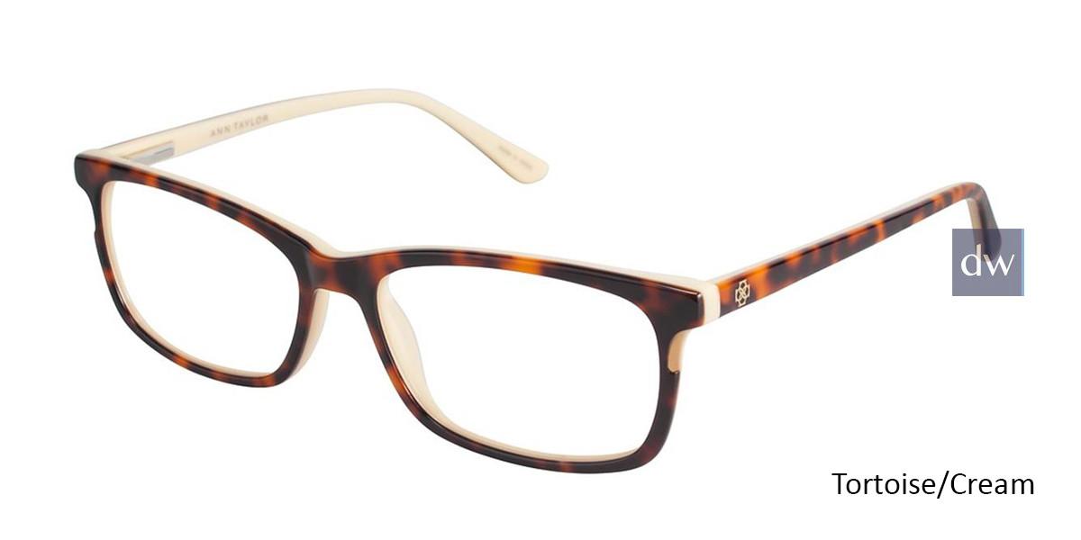 Burgundy/Black Ann Taylor AT322 Eyeglasses.