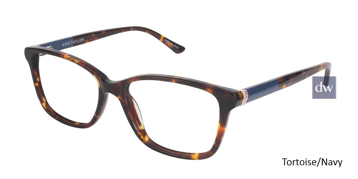 Tortoise/Navy Ann Taylor AT322 Eyeglasses.