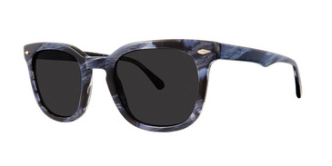 Navy Horn Zac Posen Rhett Sunglasses.