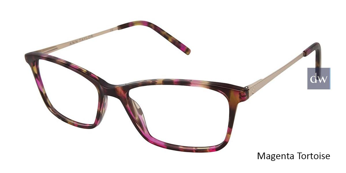 Magenta Tortoise Ann Taylor AT327 Eyeglasses.