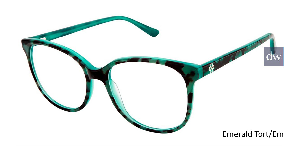 Emerald Tort/Em Ann Taylor AT328 Eyeglasses.