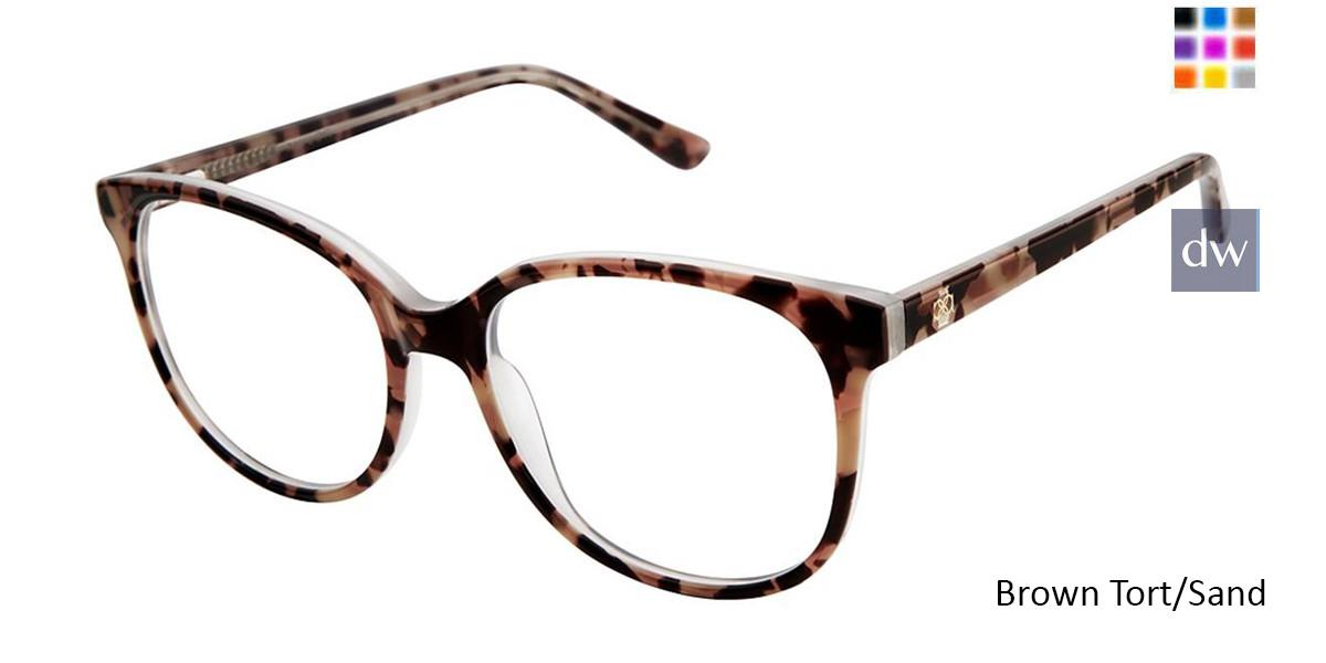 Brown Tort/Sand Ann Taylor AT328 Eyeglasses.
