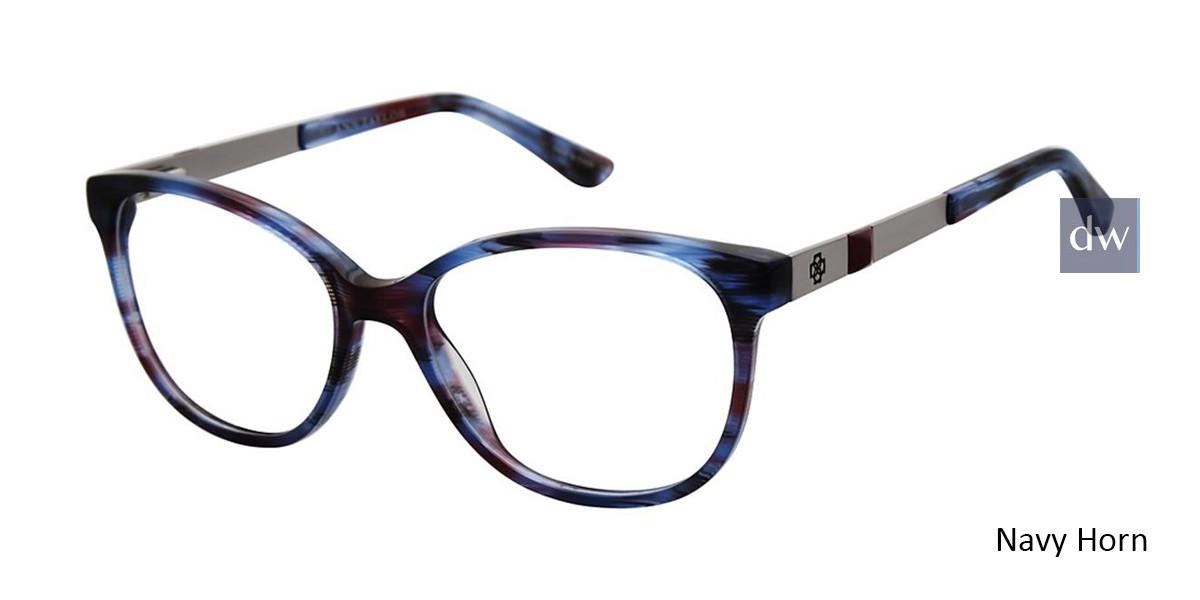 Navy Horn Ann Taylor AT331 Eyeglasses.