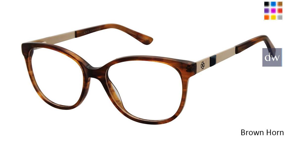 Brown Horn Ann Taylor AT331 Eyeglasses.