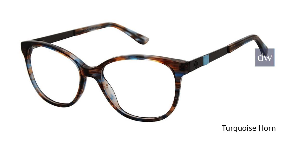 Turquoise Horn Ann Taylor AT331 Eyeglasses.