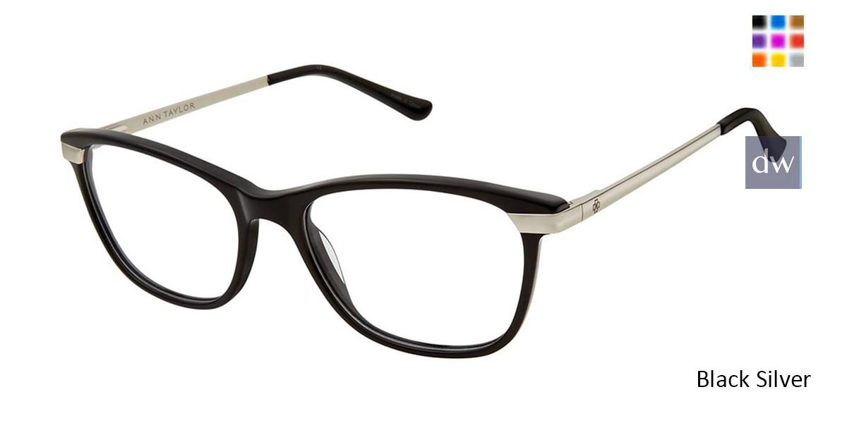 Black Silver Ann Taylor AT332 Eyeglasses.