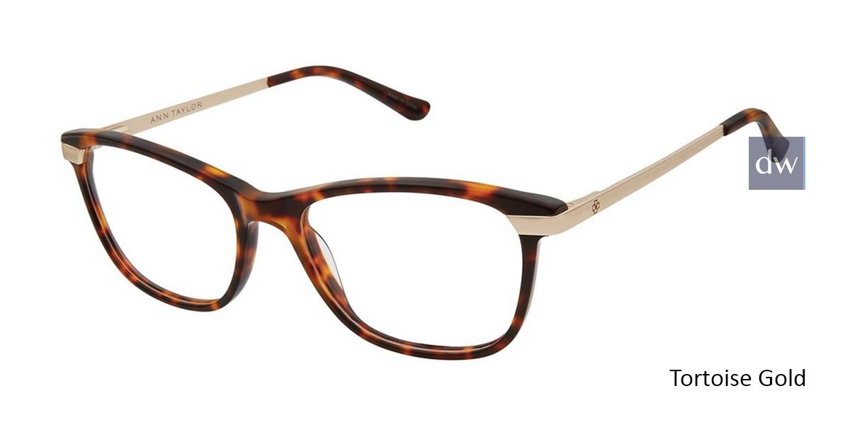 Tortoise Gold Ann Taylor AT332 Eyeglasses.