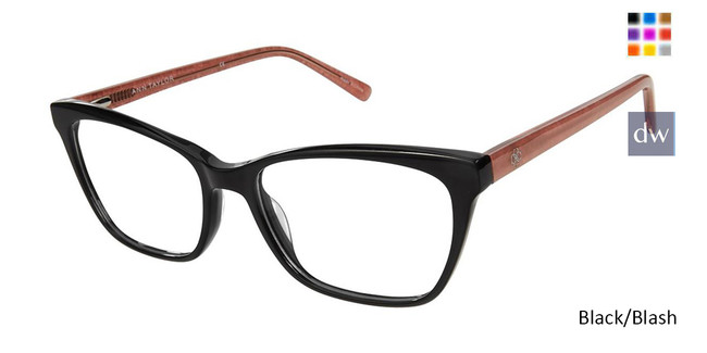 Black/Blush Ann Taylor AT333 Eyeglasses.