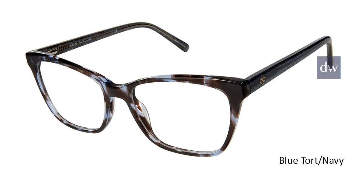Blue Tort/Navy Ann Taylor AT333 Eyeglasses.