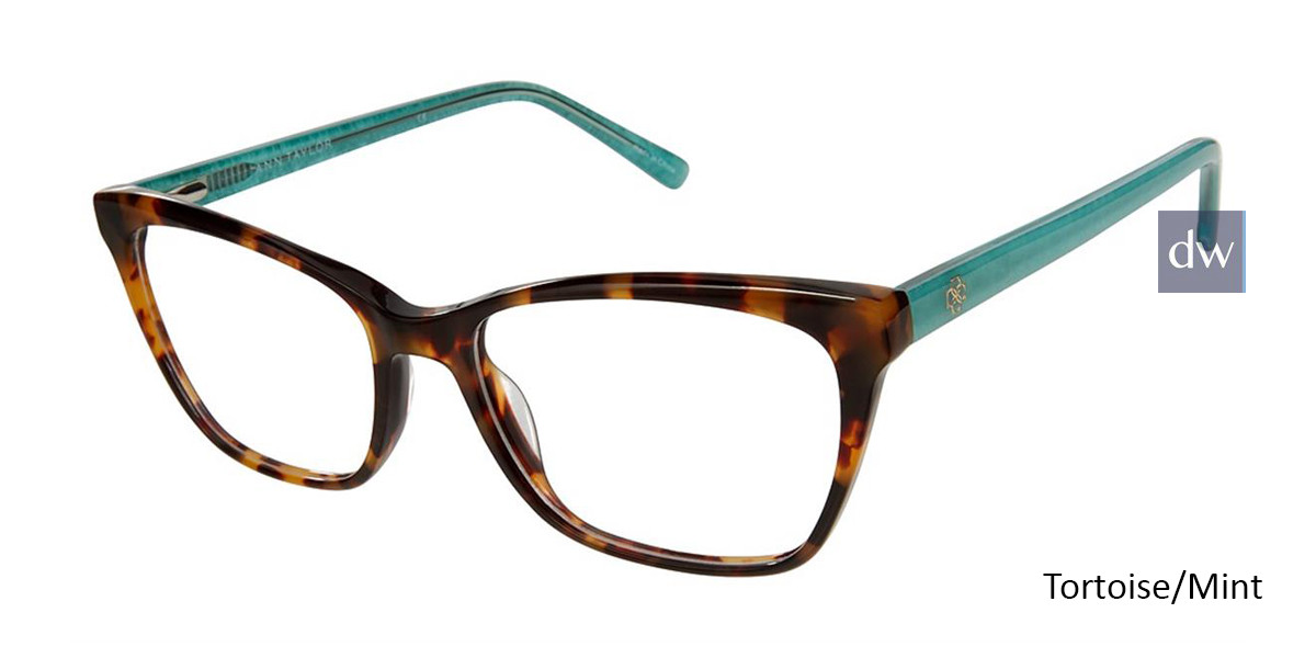 Tortoise/Mint Ann Taylor AT333 Eyeglasses.