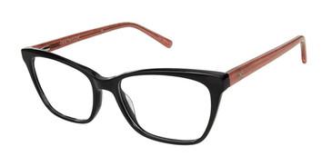Black/Blush Ann Taylor AT333 Eyeglasses.
