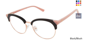Black/Blush Ann Taylor AT335 Eyeglasses.