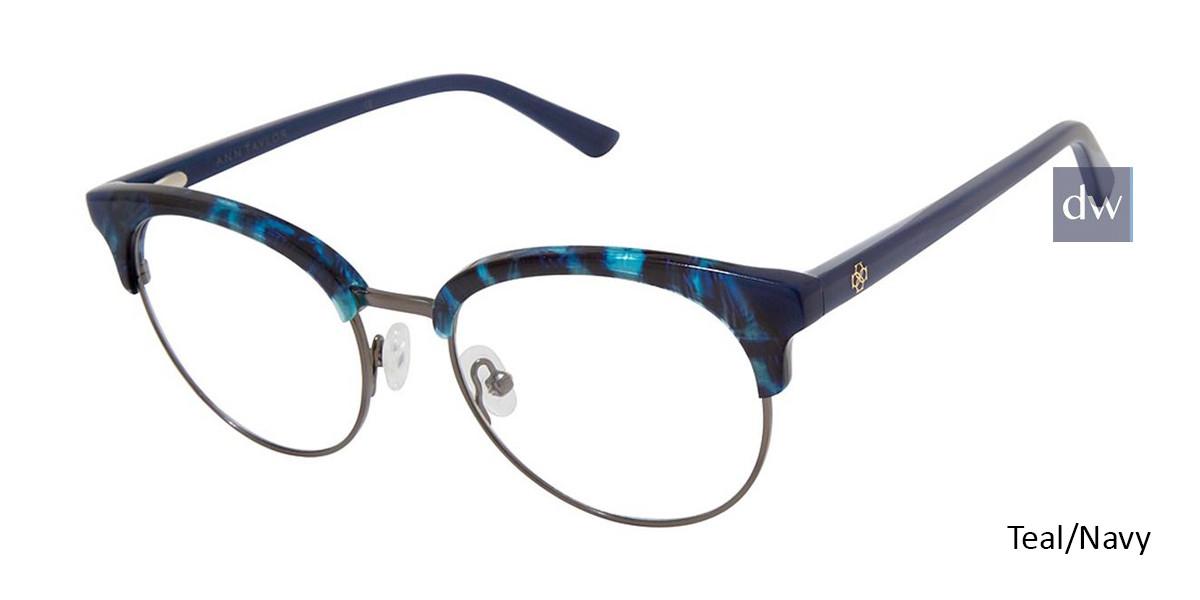 Teal/Navy Ann Taylor AT335 Eyeglasses.