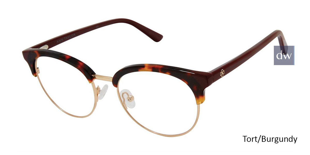 Tort/Burgundy Ann Taylor AT335 Eyeglasses.