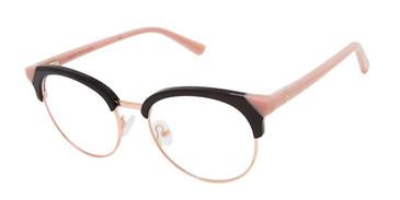 Black/Blush Ann Taylor AT335 Eyeglasses.