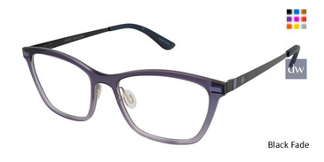 Black Fade Ann Taylor AT407 Eyeglasses.