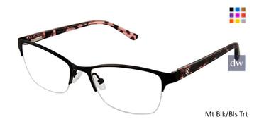 Mt Blk/Bls Trt Ann Taylor AT602 Titanium Eyeglasses.