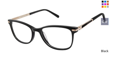 Black Ann Taylor ATP011 Luxury Petite Eyeglasses - Teenager.
