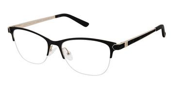 Matte Black Ann Taylor ATP012 Luxury Petite Eyeglasses.