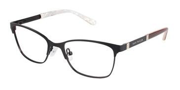 Matte Black Ann Taylor ATP705 Petite Eyeglasses - Teenager.