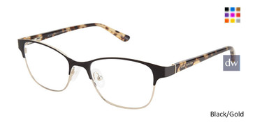 Black/Gold Ann Taylor ATP706 Petite eyeglasses - Teenager.