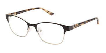 Black/Gold Ann Taylor ATP706 Petite eyeglasses - Teenager.