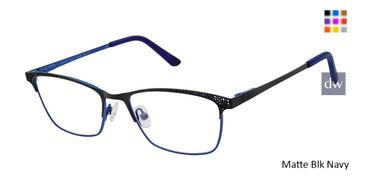 Matte Blk Navy Ann Taylor ATP709 Petite Eyeglasses.