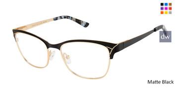 Matte Black Ann Taylor ATP710 Petite Eyeglasses.